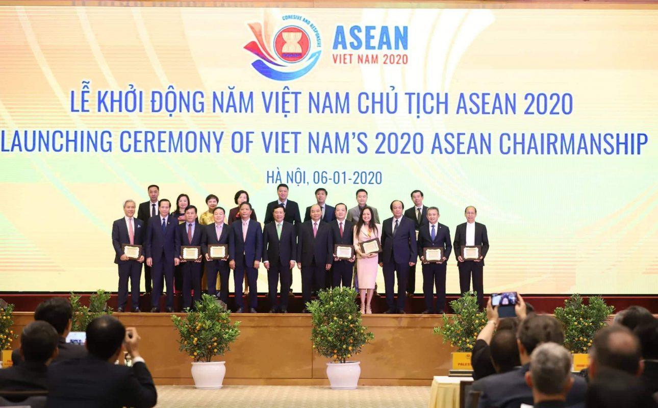 Các đại biểu tại lễ khởi động Năm Chủ tịch ASEAN 2020 (Ảnh: PAN)